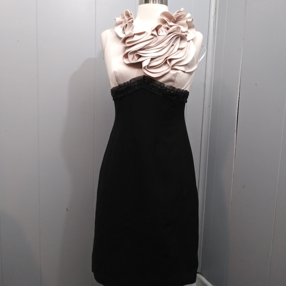 JS Collections Dresses & Skirts - JS Collections Frill Top Mid-length Dress Sz 4